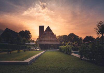 Villa H2 gazon schemering door Tom Kneepkens/Peter Baas